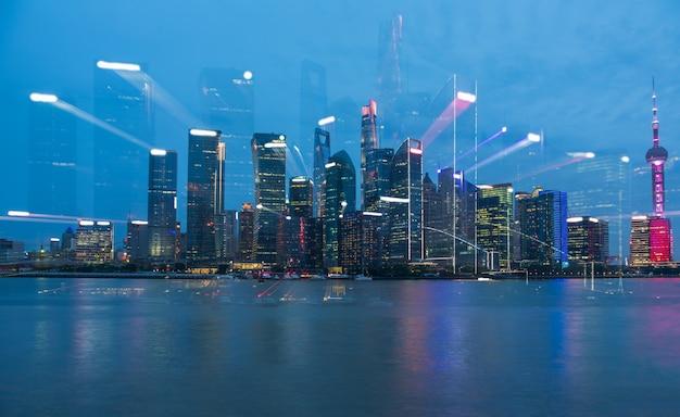 L'évolution de la section focale de l'architecture urbaine de shanghai, en chine