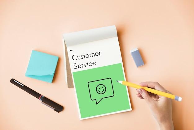 Examen évaluation Satisfaction Service Clientèle Commentaires Signe Icône Photo gratuit