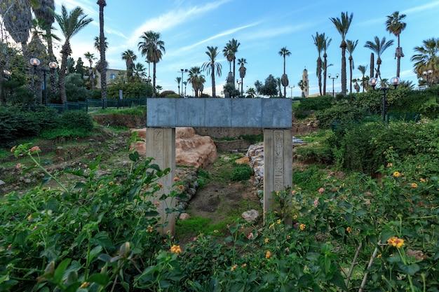 Excavation porte des temps du pharaon ramsès