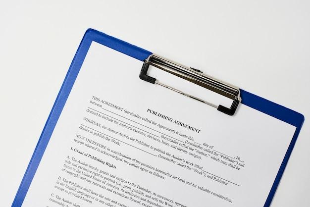 Exemple d'accord de publication