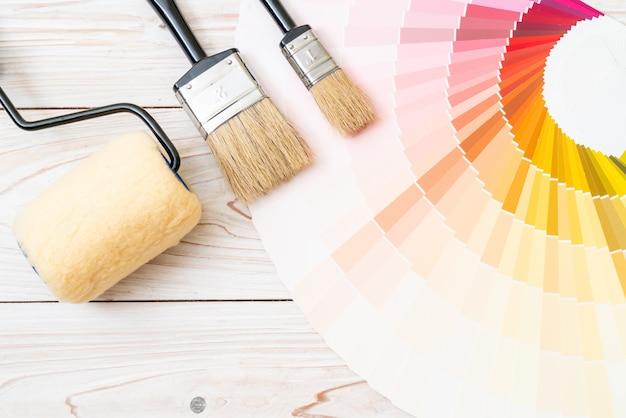 Exemple de catalogue de couleurs ou de livre d'échantillons de couleurs