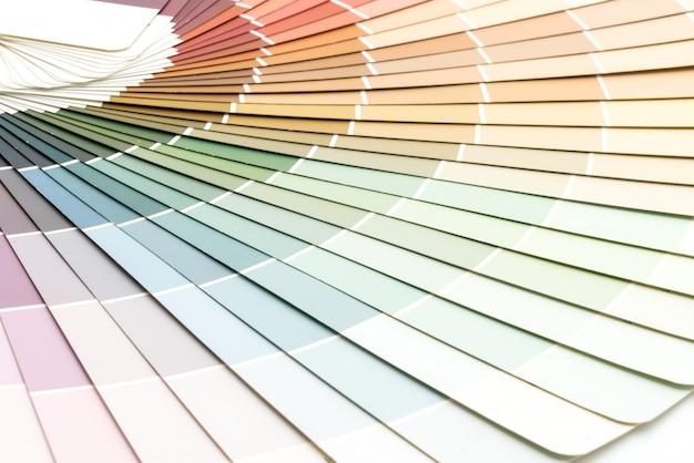 Exemple de catalogue de couleurs pantone