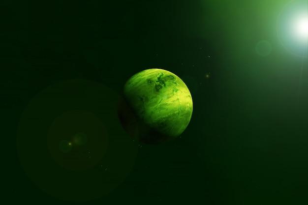 Exoplanète dans l'espace lointain. les éléments de cette image ont été fournis par la nasa. photo de haute qualité