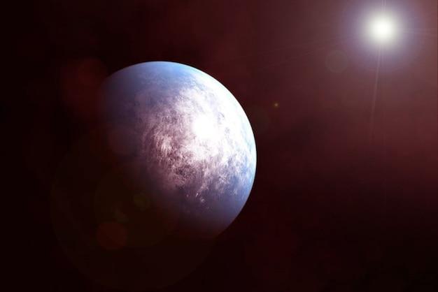 Exoplanète dans l'espace lointain. les éléments de cette image ont été fournis par la nasa. pour n'importe quel but.