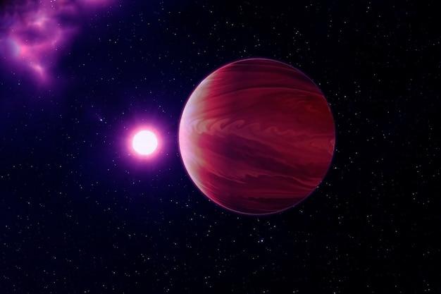 Exoplanète dans un espace très sombre. les éléments de cette image ont été fournis par la nasa. photo de haute qualité