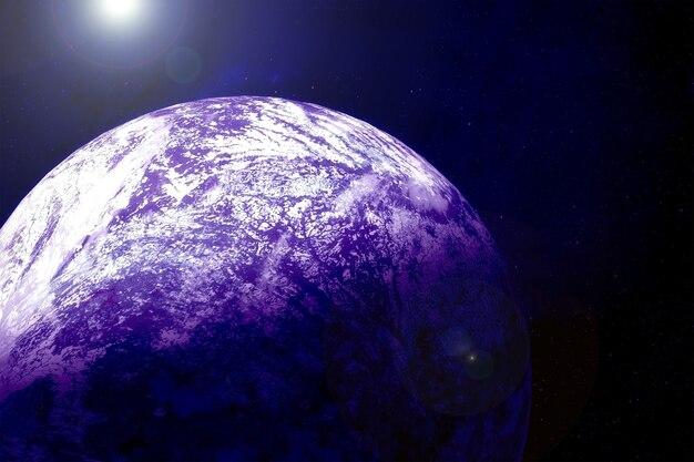Exoplanète dans les rayons de l'étoile. éléments de cette image fournis par la nasa pour n'importe quel but.