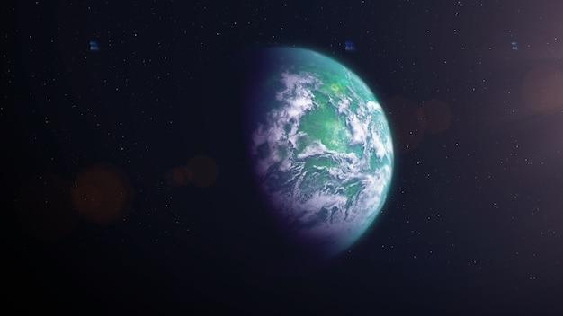 Exoplanète des marais avec