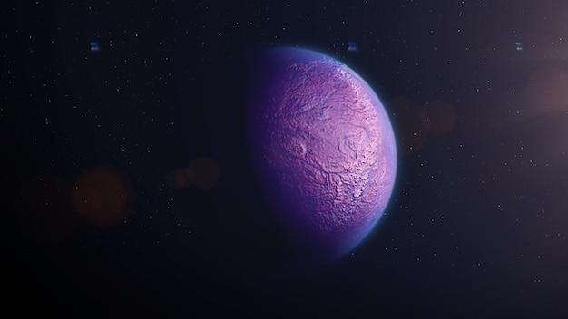 Exoplanète de pierre rose