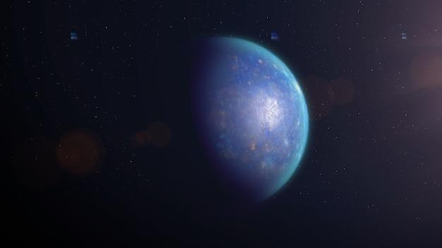 Exoplanète rocheuse bleue
