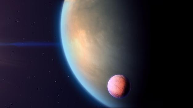 Exoplanète de type gaz avec exomoon