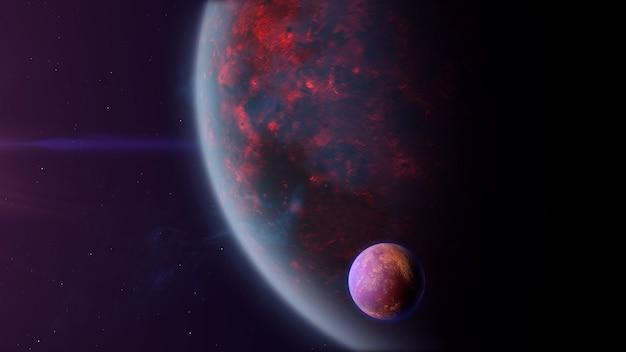 Exoplanète de type vulcanique avec exomoon
