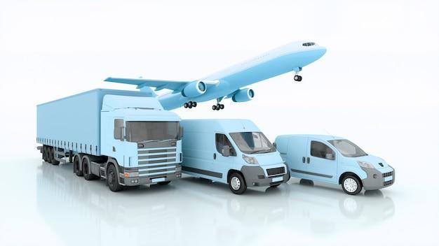 Expédition internationale et livraison de marchandises, illustration 3d