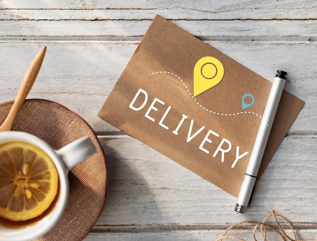Expédition logistique livraison fret cargo concept
