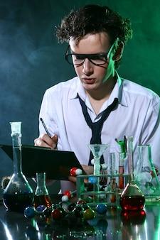 Expérience scientifique en chimie