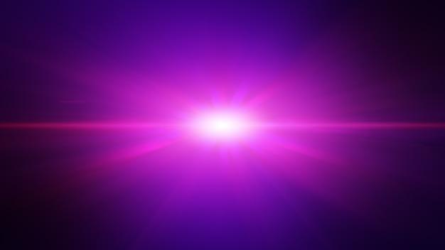 Explosion de faisceau de rayons de lumière violet rose futuriste, fond abstrait.