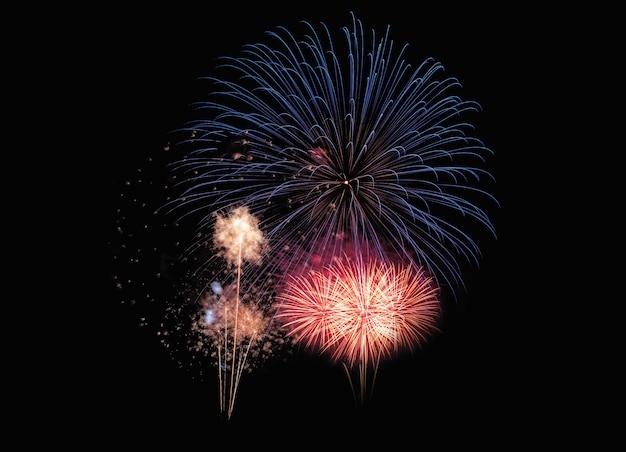 Explosion de feux d'artifice colorés abstraits et festifs