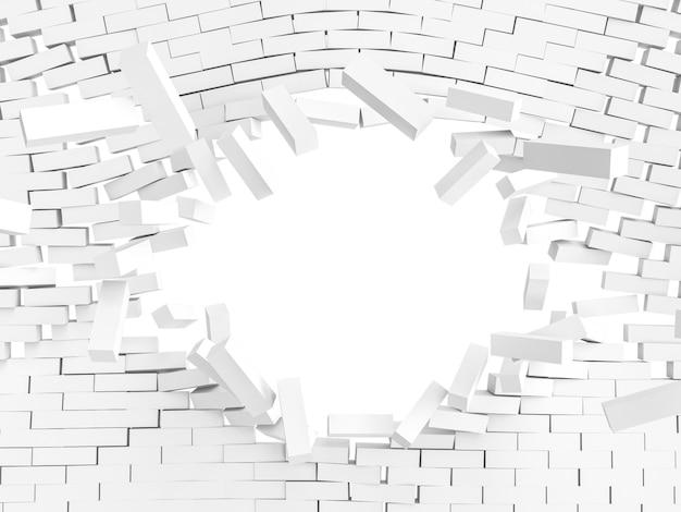 Explosion de mur blanc