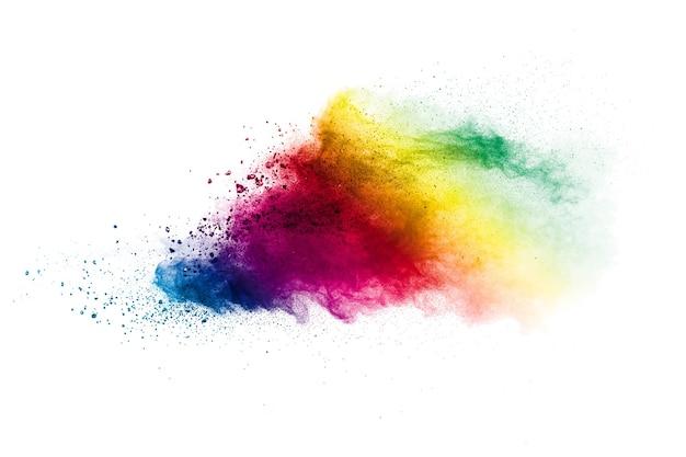 Explosion de particules multicolores