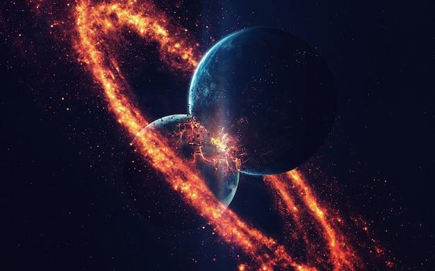 Explosion de la planète