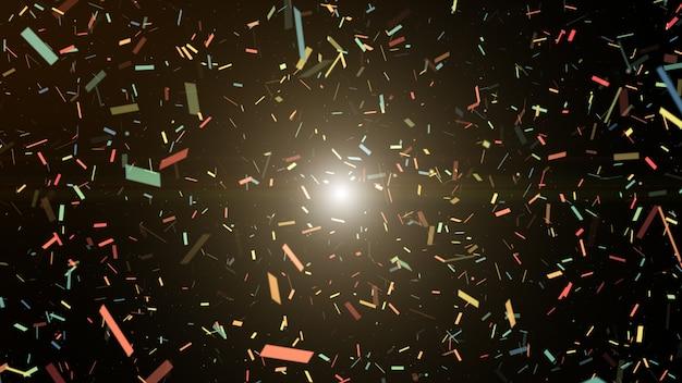 Explosion de popper fête coloré confetti.