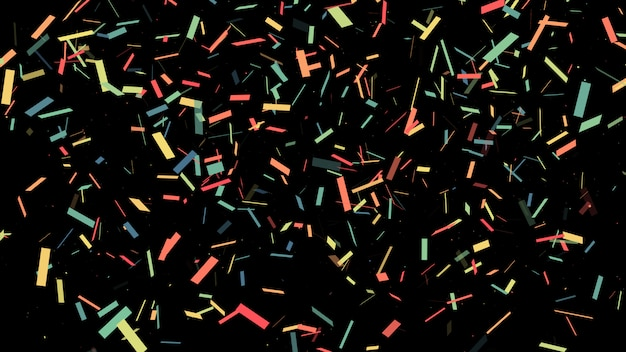 Explosion de popper parti coloré confetti et tomber.