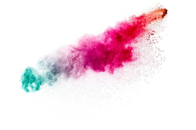 Explosion de poudre colorée