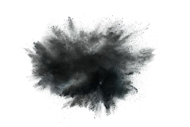 Explosion de poudre noire.