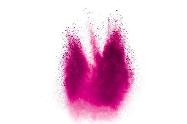 Explosion de poudre rose bleu abstrait