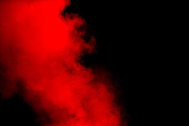 Explosion de poudre rouge o