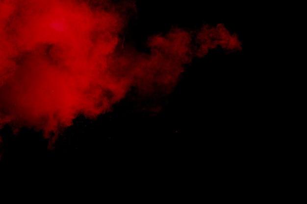 Explosion de poudre rouge