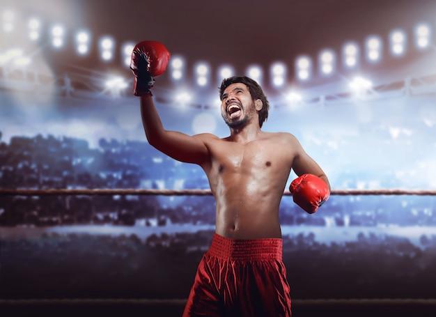 Expression de boxeur asiatique professionnel