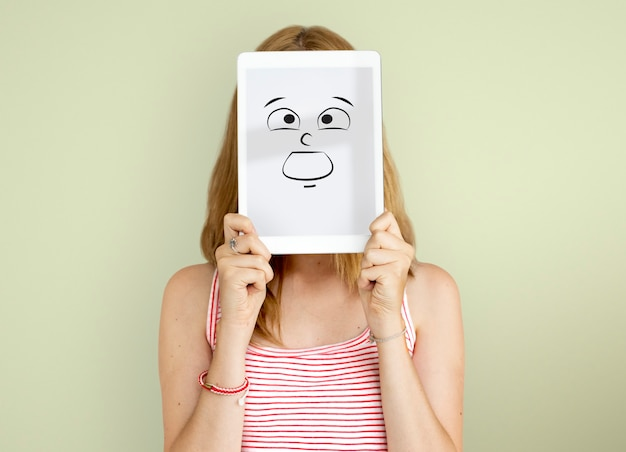 Expression du visage concept de personnes émotionnelles