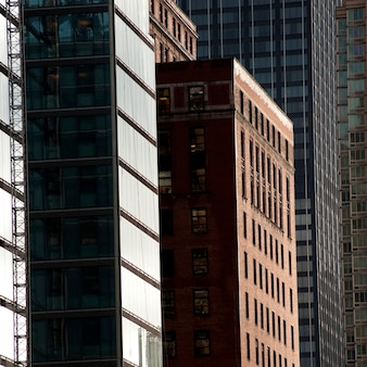 Extérieur, bâtiments, manhattan, new york, usa