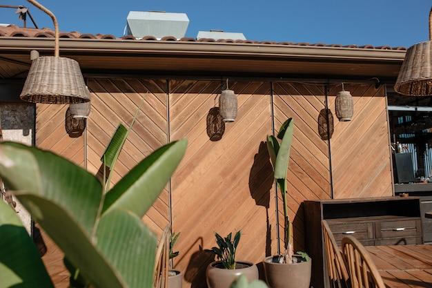 Extérieur du bois de l'architecture de concept de restaurant de la turquie