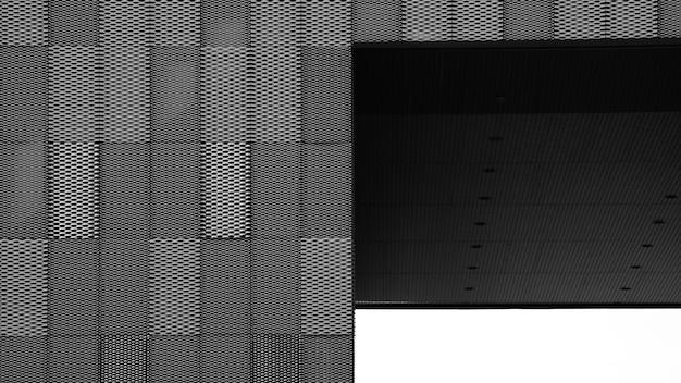 Extérieur de la grille en acier et auvent au mur du bâtiment