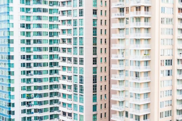 Extérieur de modèle de construction de fenêtre