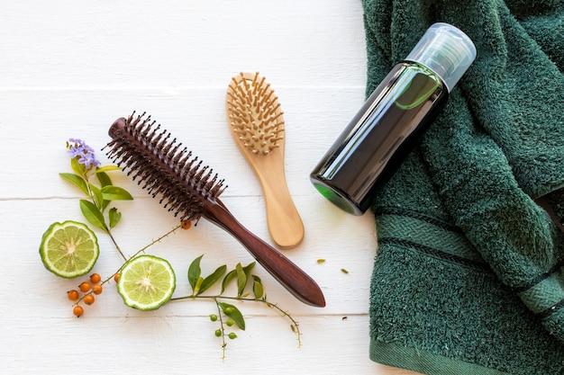Extrait de shampooing à base de plantes kaffir lime soins de santé pour laver les cheveux