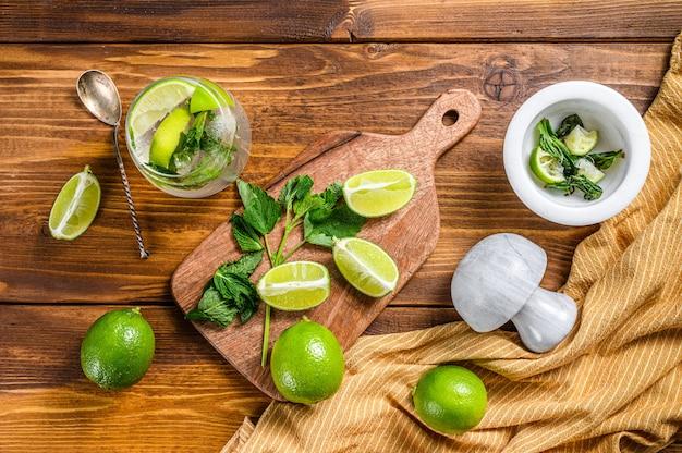Fabrication de cocktails mojito