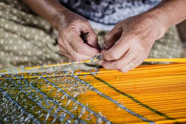 Fabrication de tissu en thaïlande
