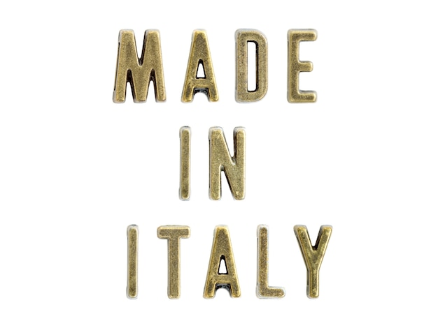 Fabriqué en italie