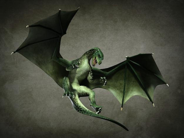 Fabuleux dragon volant. illustration 3d