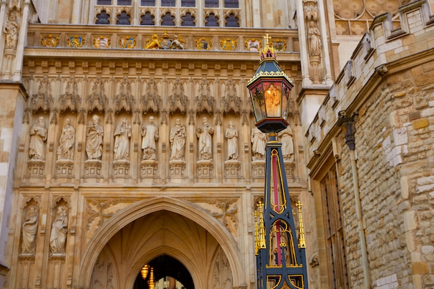 Façade de l'abbaye de londres westminster