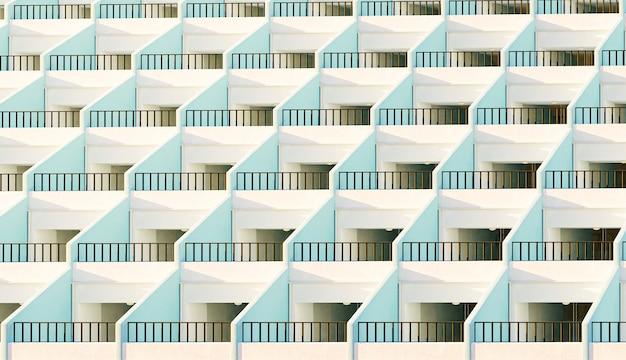 Façade d'appartements avec leurs terrasses