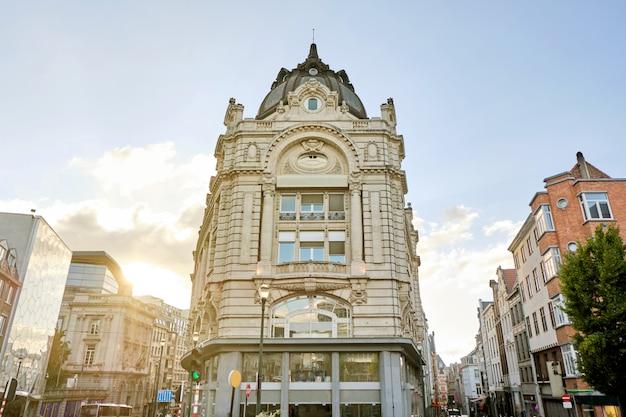 Façade de bâtiments à bruxelles-ville en belgique