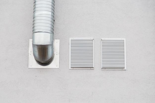 Façade de conduit d'air industriel en aluminium