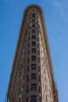 Façade du flatiron building à new york