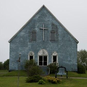 Façade d'une église, île du cap-breton, nouvelle-écosse, canada