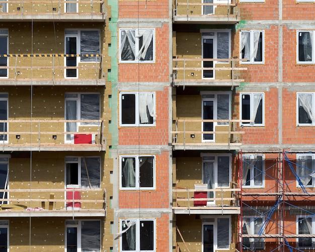 Façade d'un immeuble d'appartements de la ville moderne complexe immobilier résidentiel européen
