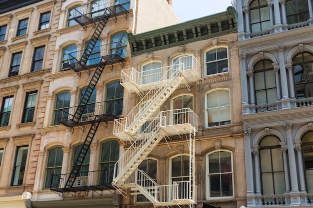 Façades du bâtiment soho à manhattan à new york