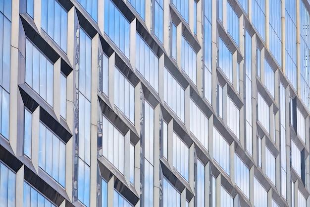 Façades en verre d'immeuble de bureaux